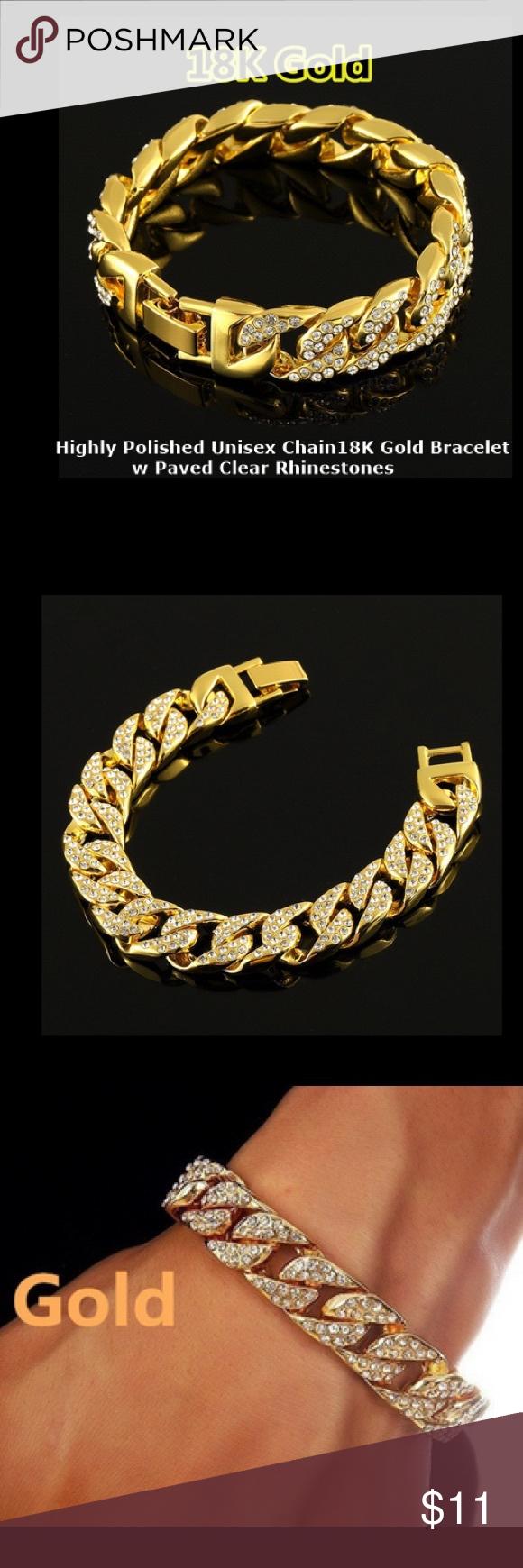 Bracelet unisex stones k gold boutique