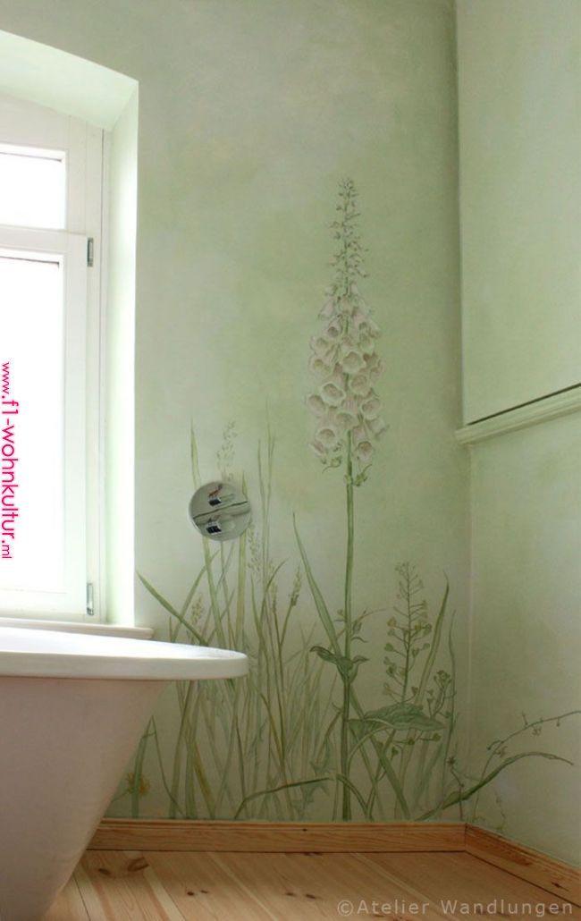 Malerei Badezimmer Lasurmalerei Inka Gierden Atelier