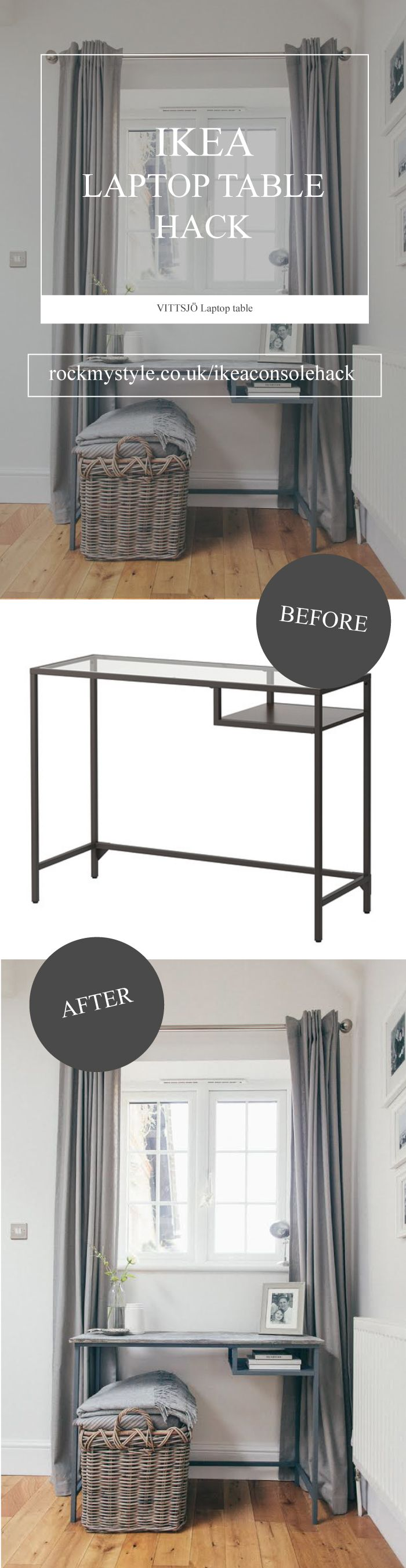 Superbe A Concrete Console Table From The Ikea Vittsjo Laptop Table | Full Tutorial  On Rockmystyle.co.uk