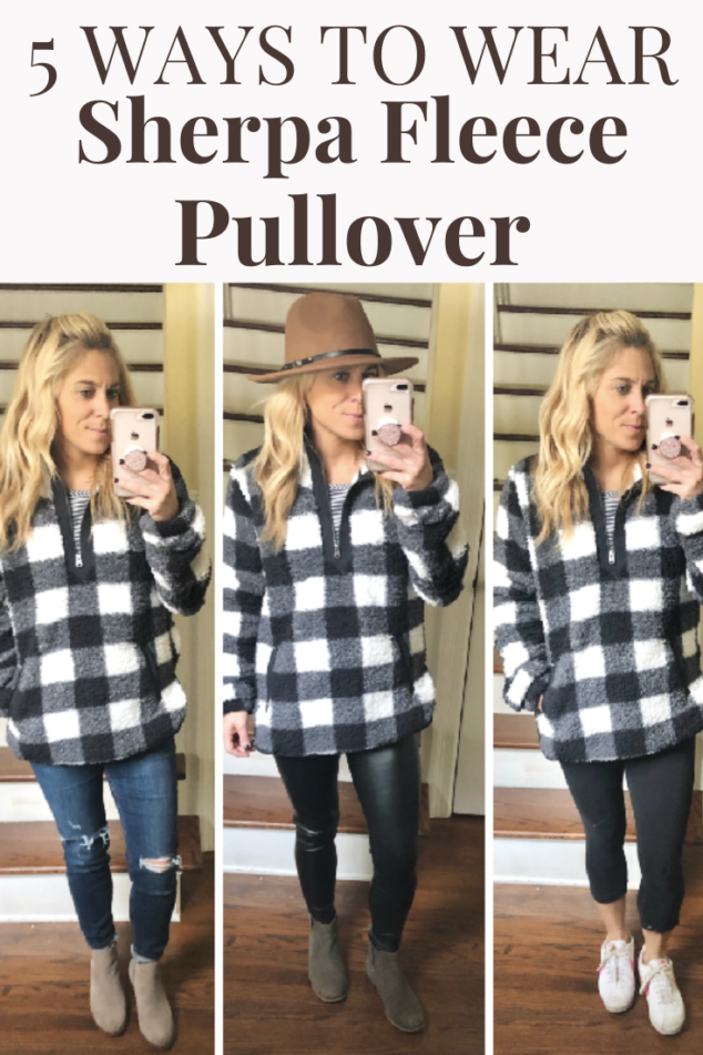 How to wear a fleece pullover 5 different ways – Mom Fashion