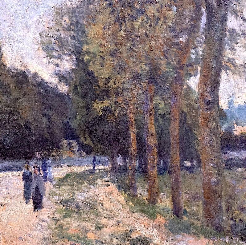 """Alfred Sisley (1839-1899) """"La Seine à Marly"""", dét. (1876)"""