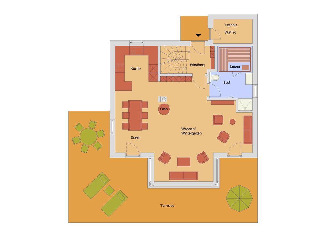 Kranichsruh auf Zinnowitz 3 Schlafzimmer, für bis zu 6