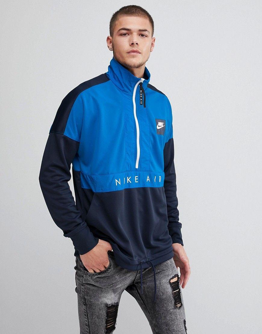 e215d3b31842 Nike - Air - Marineblaue Jacke mit halblangem Reißverschluss Jetzt  bestellen unter  https