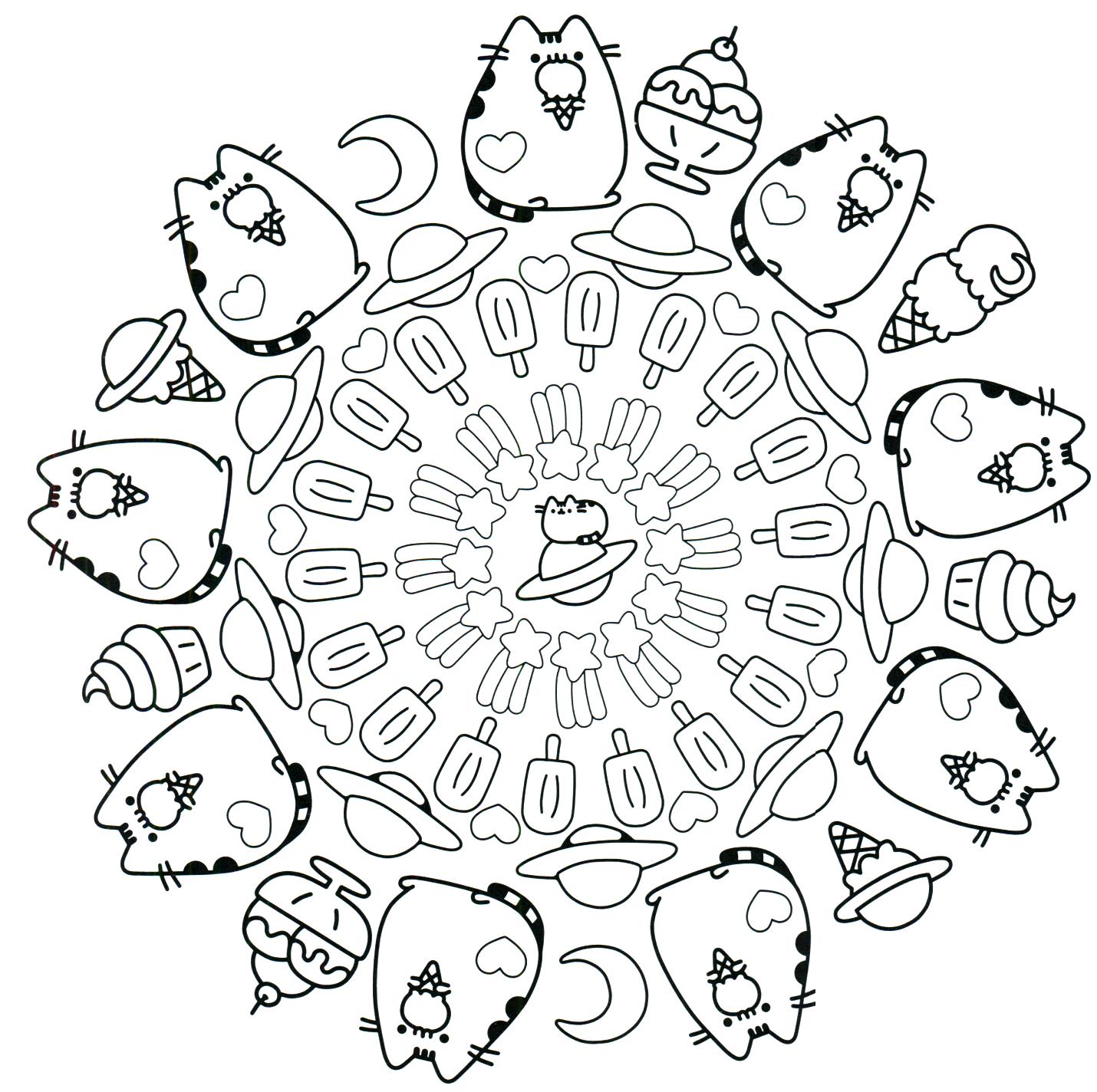 Pusheen Coloring Book Pusheen Pusheen the Cat | coloring | Pinterest ...