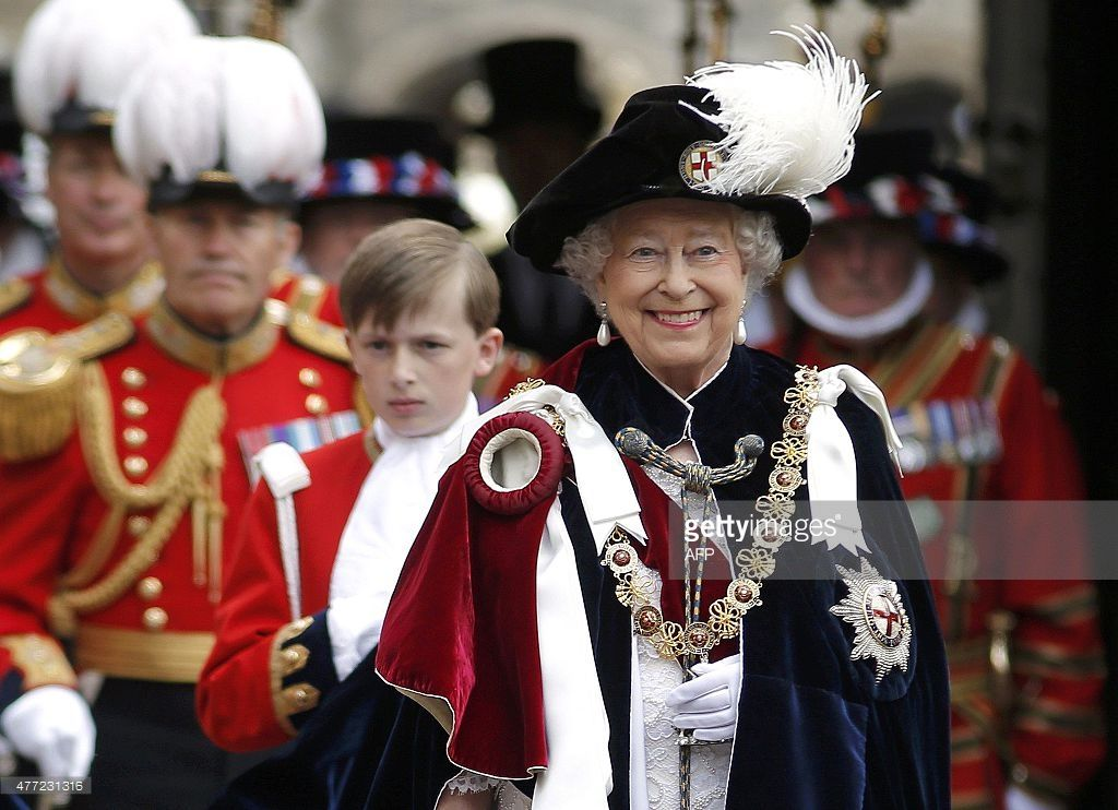 Britain's Queen Elizabeth II smiles as she attends the
