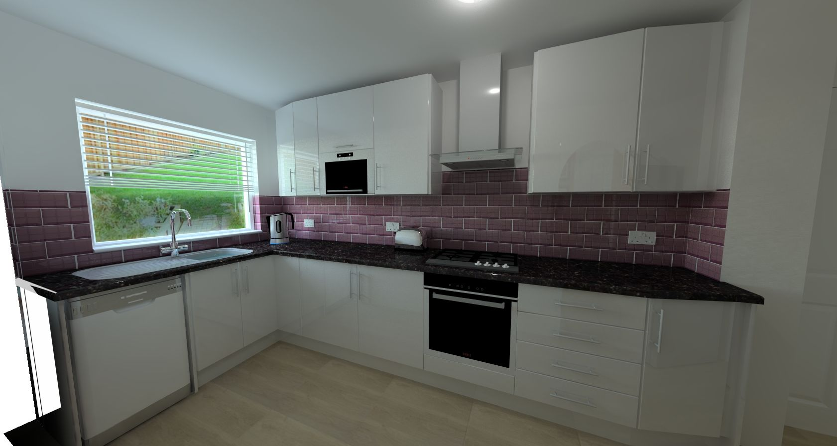 Another Customer Designa High Gloss White Kitchen With Microwave Awesome Kitchen 3D Design Decorating Design