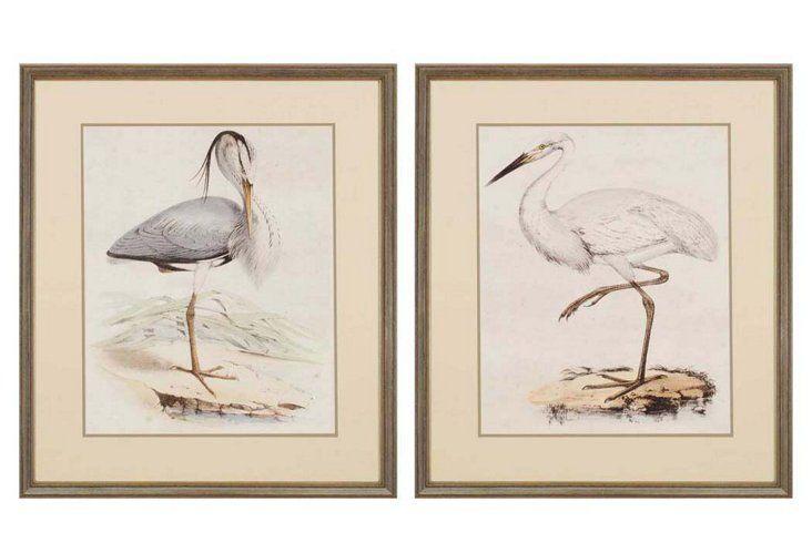Antique Herons