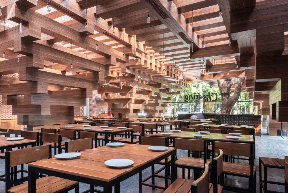 Cheering Restaurant H P Architects Restaurant Architecture Timber Architecture
