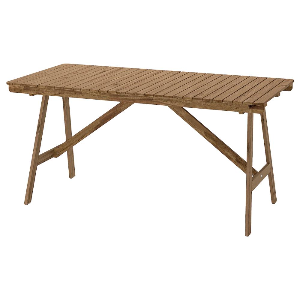 Falholmen Tisch Aussen Hellbraun Lasiert 153x73 Cm Ikea Deutschland Outdoor Dining Furniture Staining Wood Ikea Outdoor