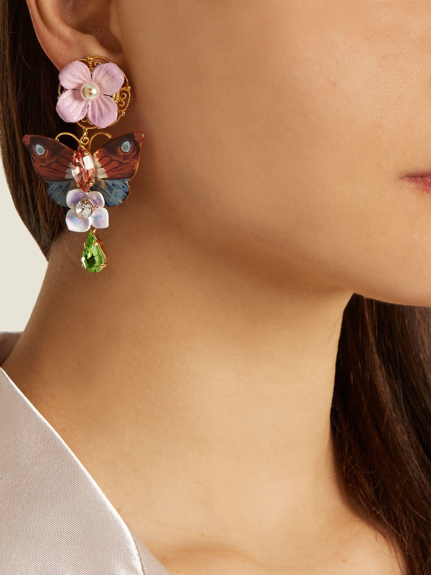 Dolce & Gabbana Butterfly earrings WjP6ddNGBg