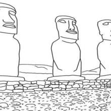 Moai Easter Island Coloring Page Coloring Pages Easter Island Easter Island Statues