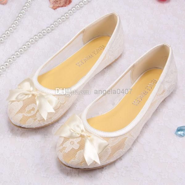 Free/Drop Shipping Ivory Lace Ballet Flats Bridal Wedding Shoes ...