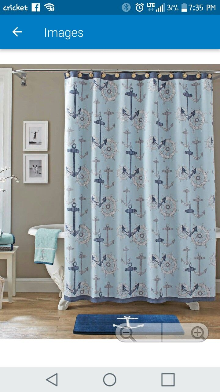 Anchor Shower Curtains Nautical Walmart Fabric