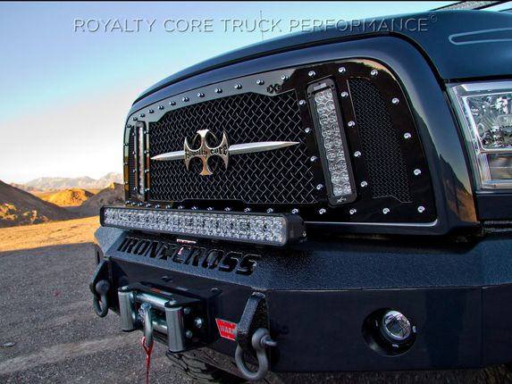 Dodge Ram 1500 2013 2015 Rcx Explosive Dual Led Grille 2013 2015 Custom Trucks Truck Grilles Pickup Truck Accessories