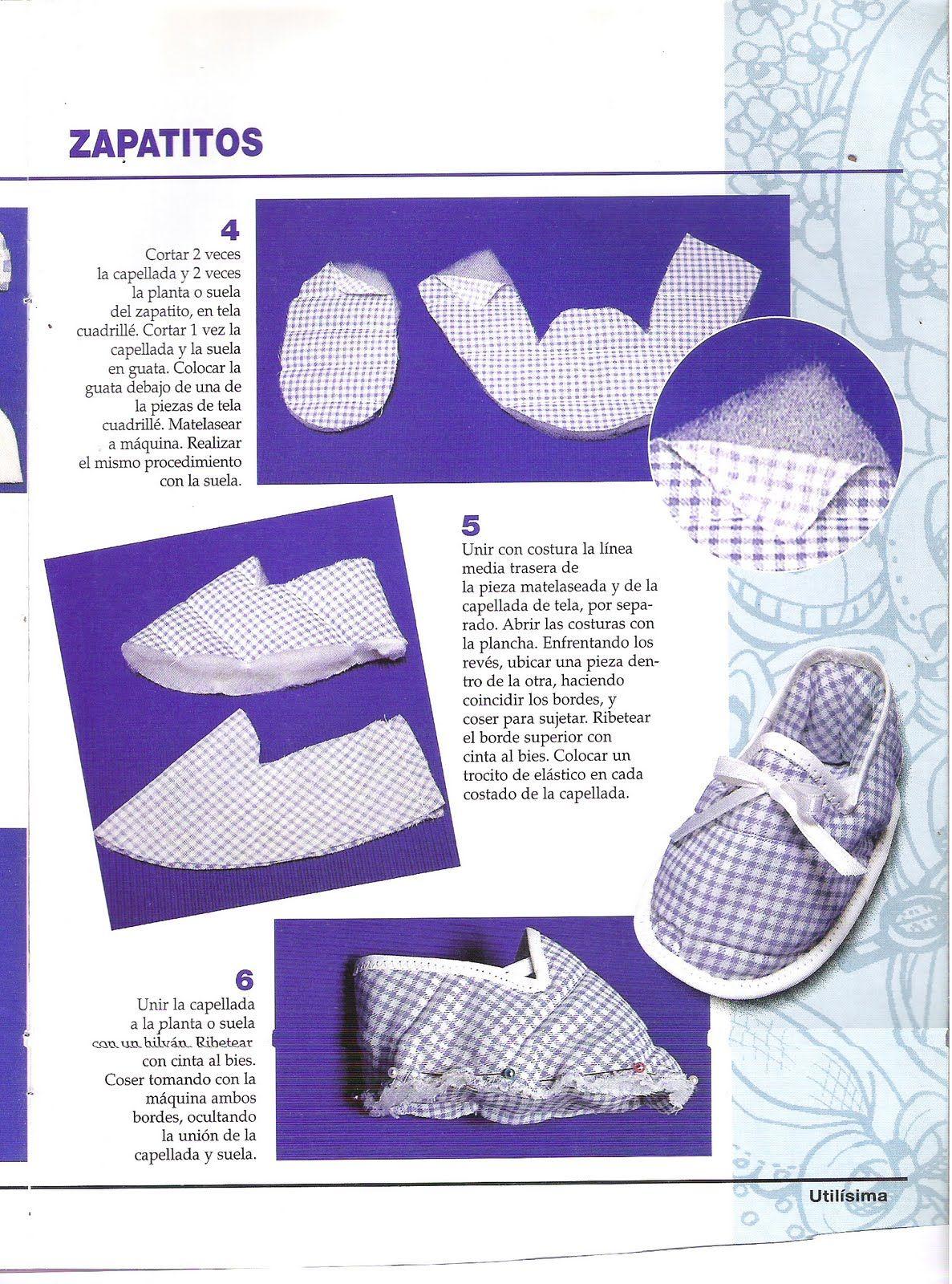 MIS MANUALIDADES Y ALGO MAS: Zapatitos de tela para bebés con ...