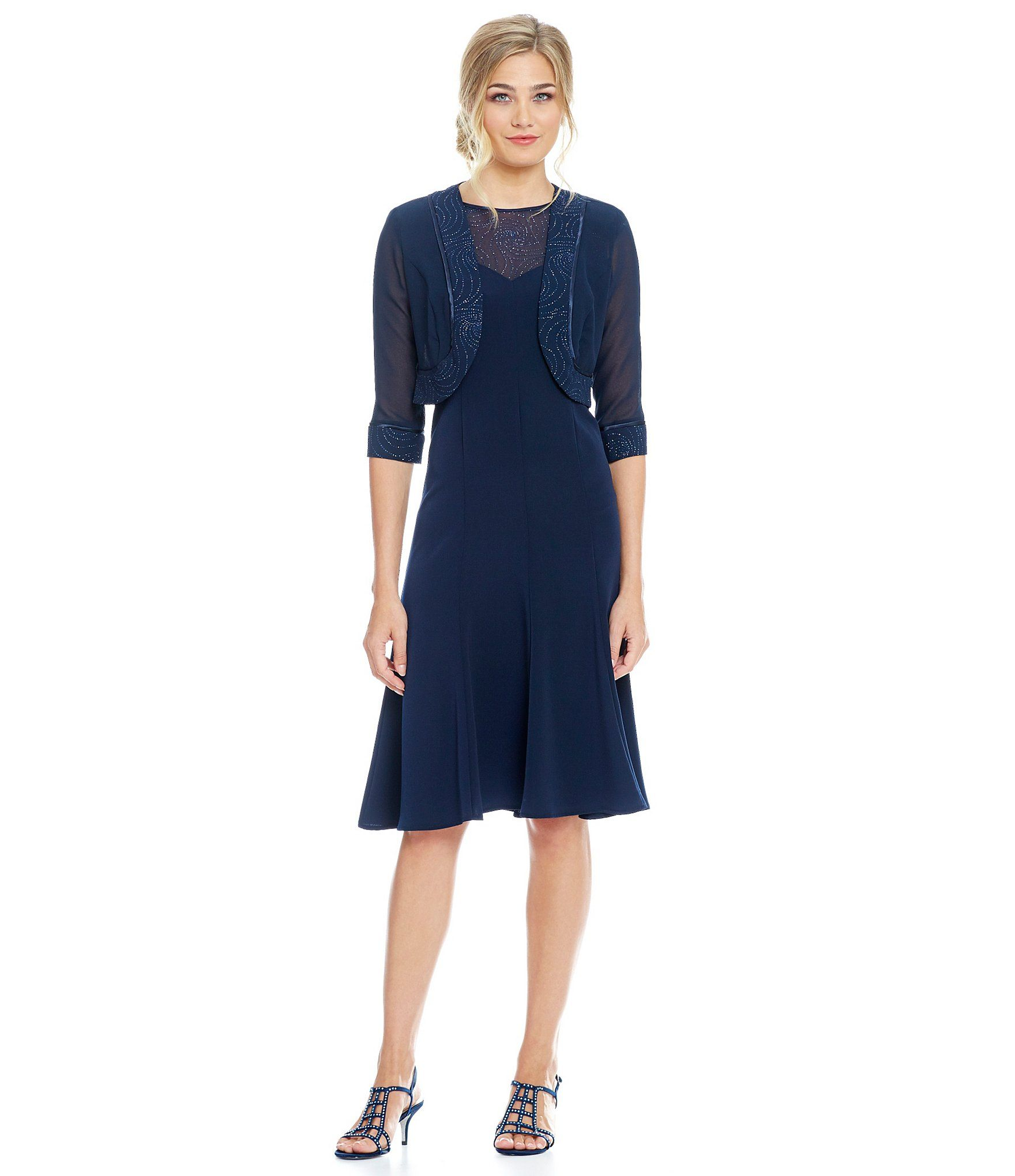 Shop for le bos glittertrim piece jacket dress at dillards