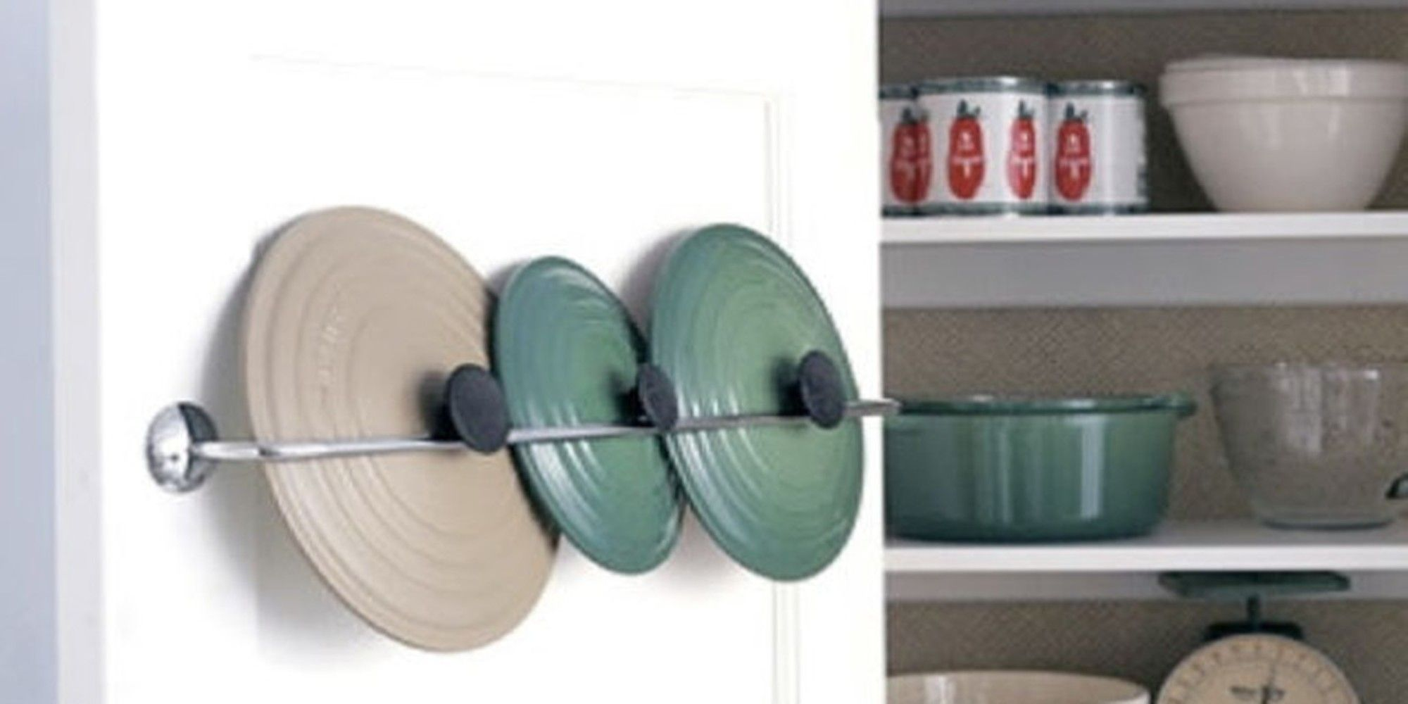 Declutter your kitchen and make use of every available space with smart DIY storage ideas! Here's a #BestOfTheWeb round up!   Slim-sliding pantry      Build a custom shelf, put it on casters, be awesome. Here are all the steps VIA Instructables   Make use of cabinet doors      Put your spice rack b...