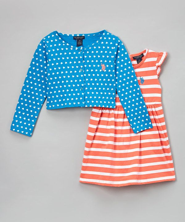 Look at this Georgia Peach & Blue Cardigan & Dress - Infant & Toddler on #zulily today!