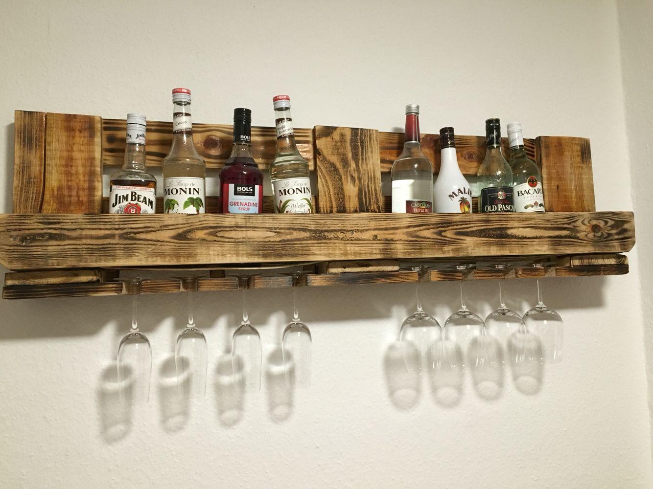 Flaschenregal Aus Paletten Einen Gin Tonic Bitte Regal Aus