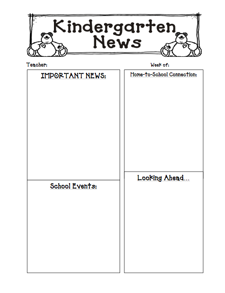 6 Best Images Of Kellys Kindergarten Monthly Newsletter Templates