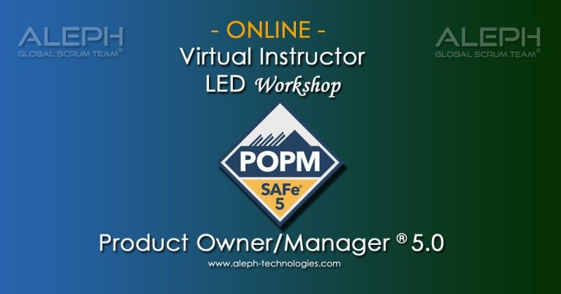 Agile Training Certification Product Owner Aleph Global Scrum Team Virtual Led Instructor Management Understanding Global