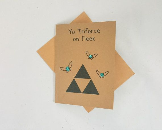 Triforce Love Card Funny Love You Card Valentines Day Card Etsy Valentines Cards Love Cards For Him Funny Greeting Cards