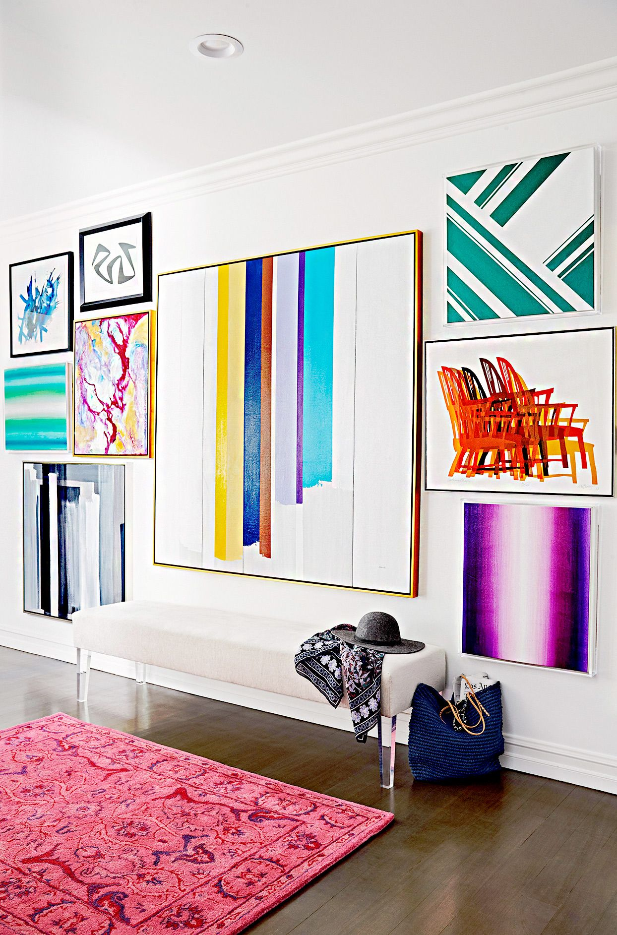 how to best hang pictures on plaster walls