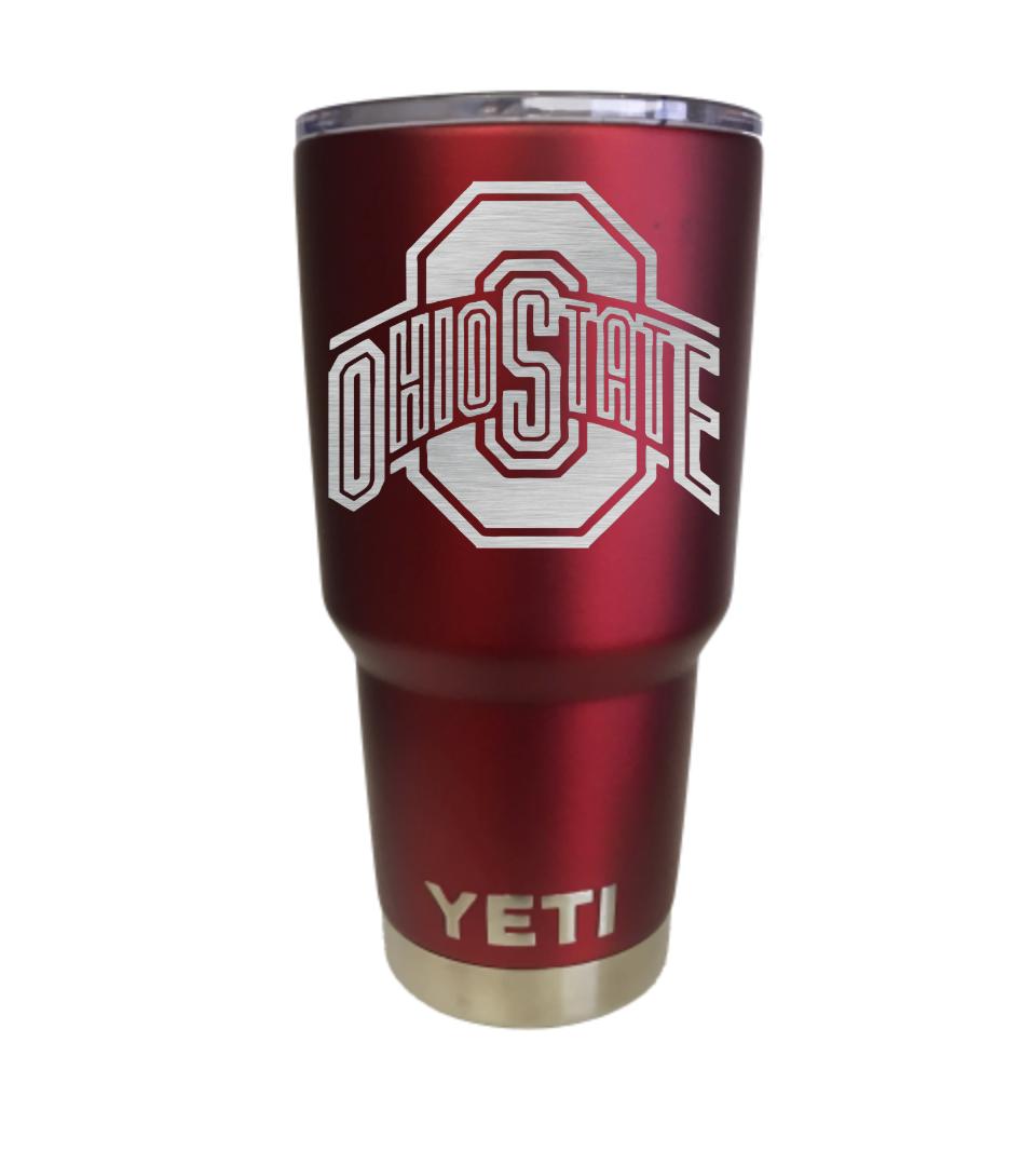 Ohio State Red Yeti Rambler Tumbler Cup Rambler tumbler