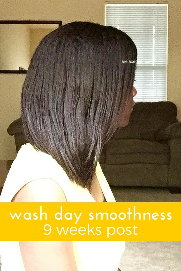 Achieving Smooth Hair After Relaxer Stretching For 9 Weeks Relaxed Hair Smooth Hair Hair