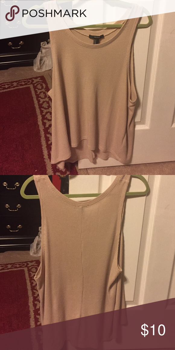 High low sweater tank High low pink/nude sweater tank from forever 21! Forever 21 Tops Tank Tops