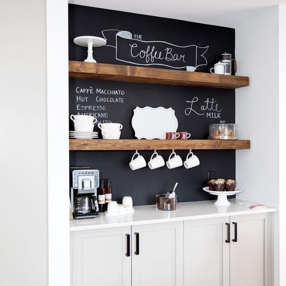 DIY Kitchen Makeover - Chalkboard Backsplash