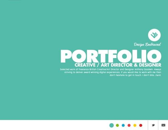 Design Embraced Anthony Goodwin Creative Director Portfolio Portfolio Web Design Web Design Inspiration