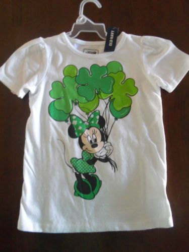 e6743b137 Old Navy Minnie Mouse St Patrick's Day Shirt Sz 5T | eBay | St ...