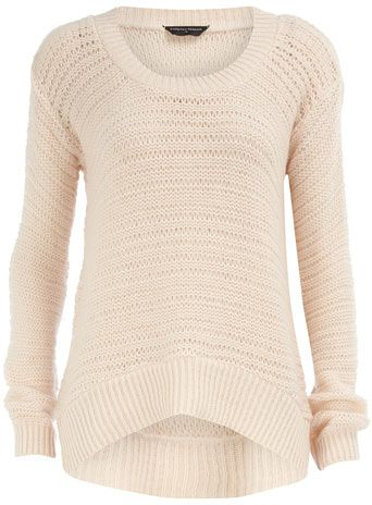 Can't go wrong with a simple cream sweater! i have one and love it (: