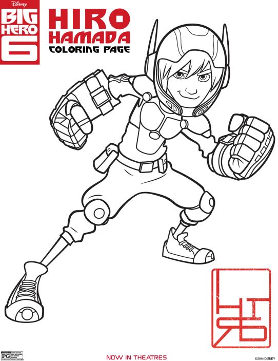 BIG HERO 6 Coloring Pages | Colorante, Big hero 6 y Héroes