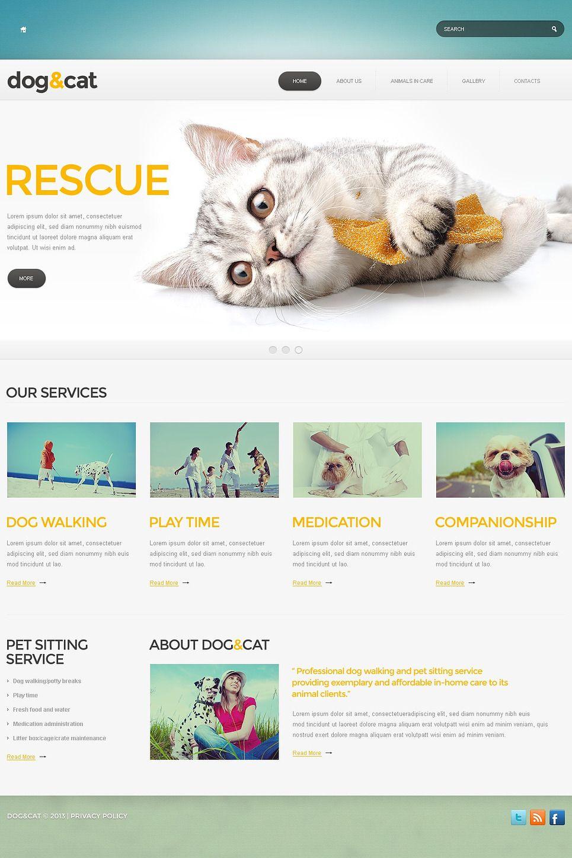 Pet Shop Website Template Cat Templatemonster