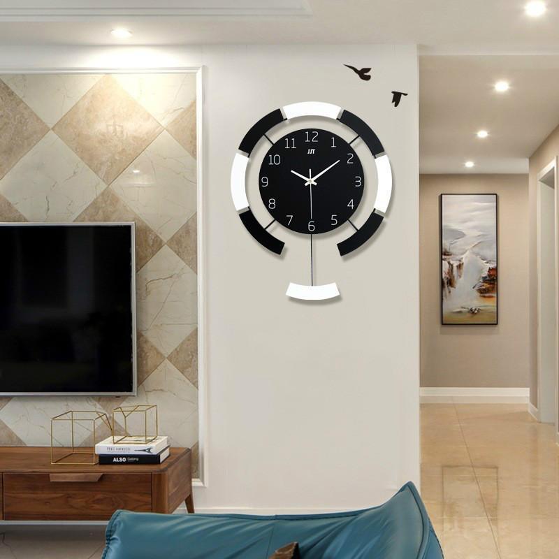 Wall Clock Modern Living Room Decoration Wall Watches Quartz Clocks Fo Adorehouse Com Wall Clock Modern Wooden Living Room Wall Clock