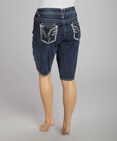 Another great find on #zulily! Dark Wash Dublin Bermuda Shorts - Plus #zulilyfinds