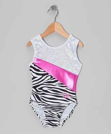 f683553f1 Take a look at this Hot Pink Zebra Shattered Glass Jemma Leotard ...