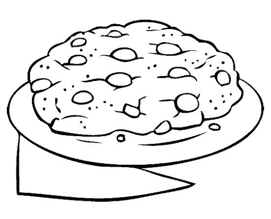 Big Chocolate Chip Cookie Coloring Page | Cookie | Coloring ...