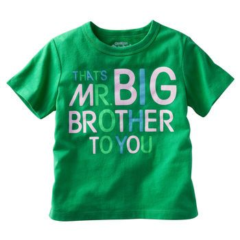 """That's Mr. Big Brother to you"" OshKosh Originals Graphic Tee"