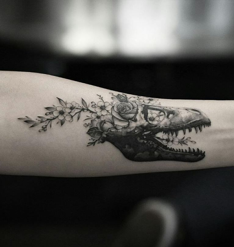 48 Amazing Tattoos by Dragon #dinosaurtattoos