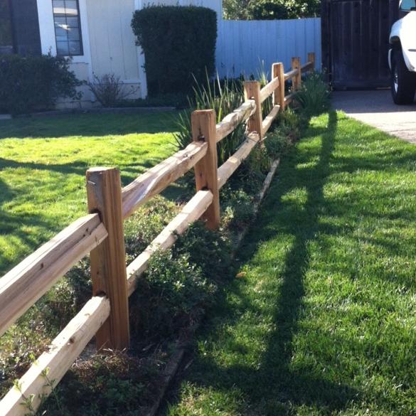 Cedar Split Rail Fencing Novato Building Supply