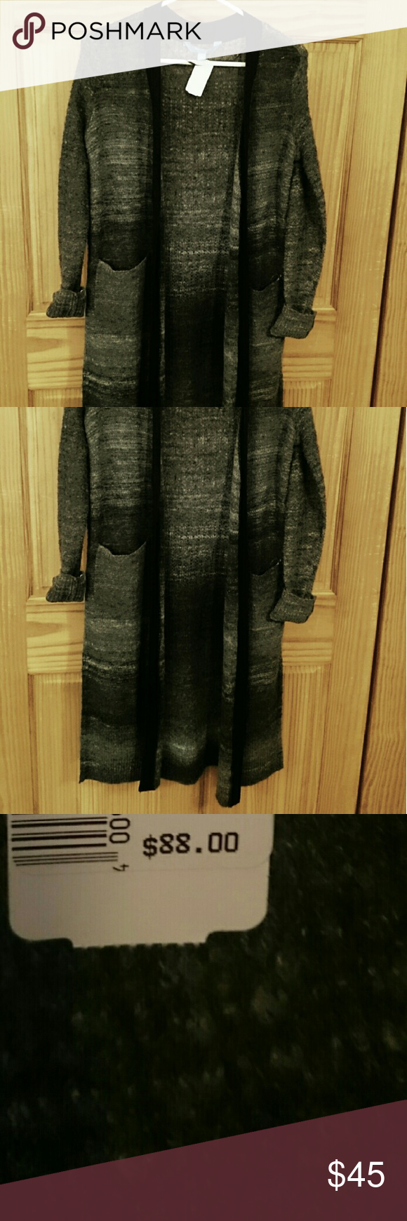 Long Cardigan Size XS New With tags Size XS Very comfy and Cute!  Fits long!  Has slits on side of cardigan Vera Wang Sweaters Cardigans