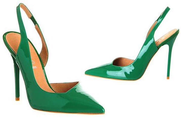 b348f1d18a7c Office  Jade  pointed green patent slingback shoes    Shoeperwoman