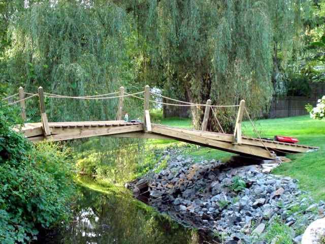 How to Build a Arched Garden Bridges pondFilter build