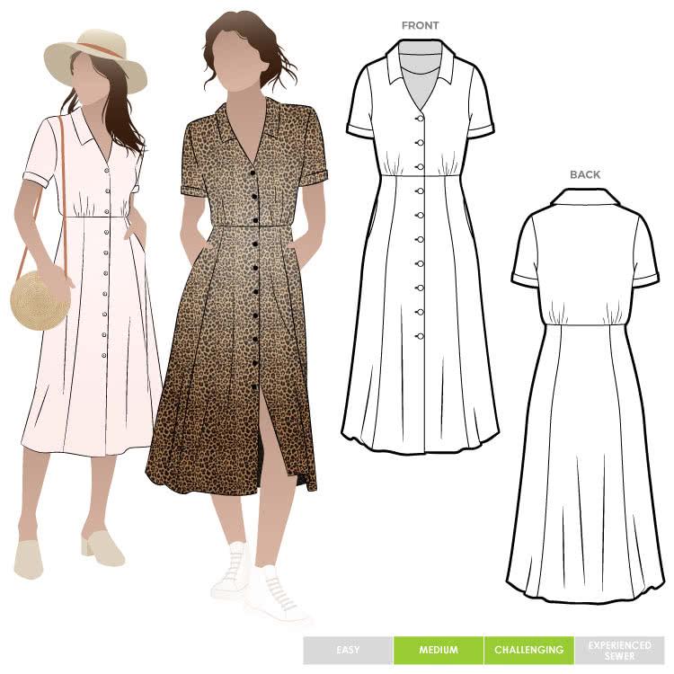 Armidale Dress Pdf Shirt Dress Pattern Vintage Dress Patterns Dress Sewing Patterns