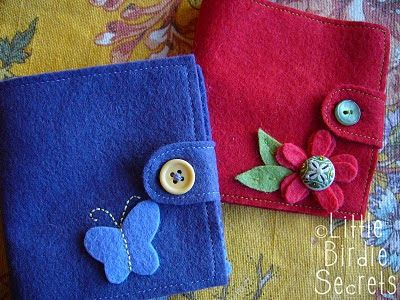Free Felt Patterns and Tutorials: Wool Felt Needle Book Tutorial