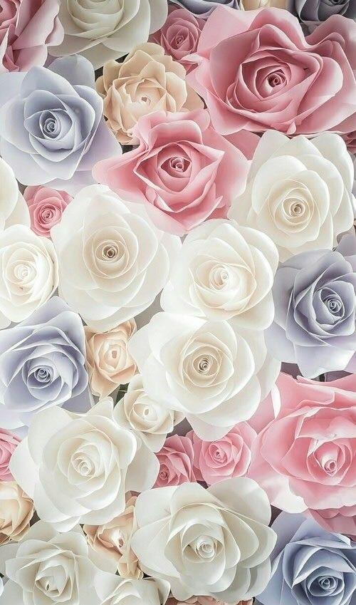 Flowers - Pastel roses.