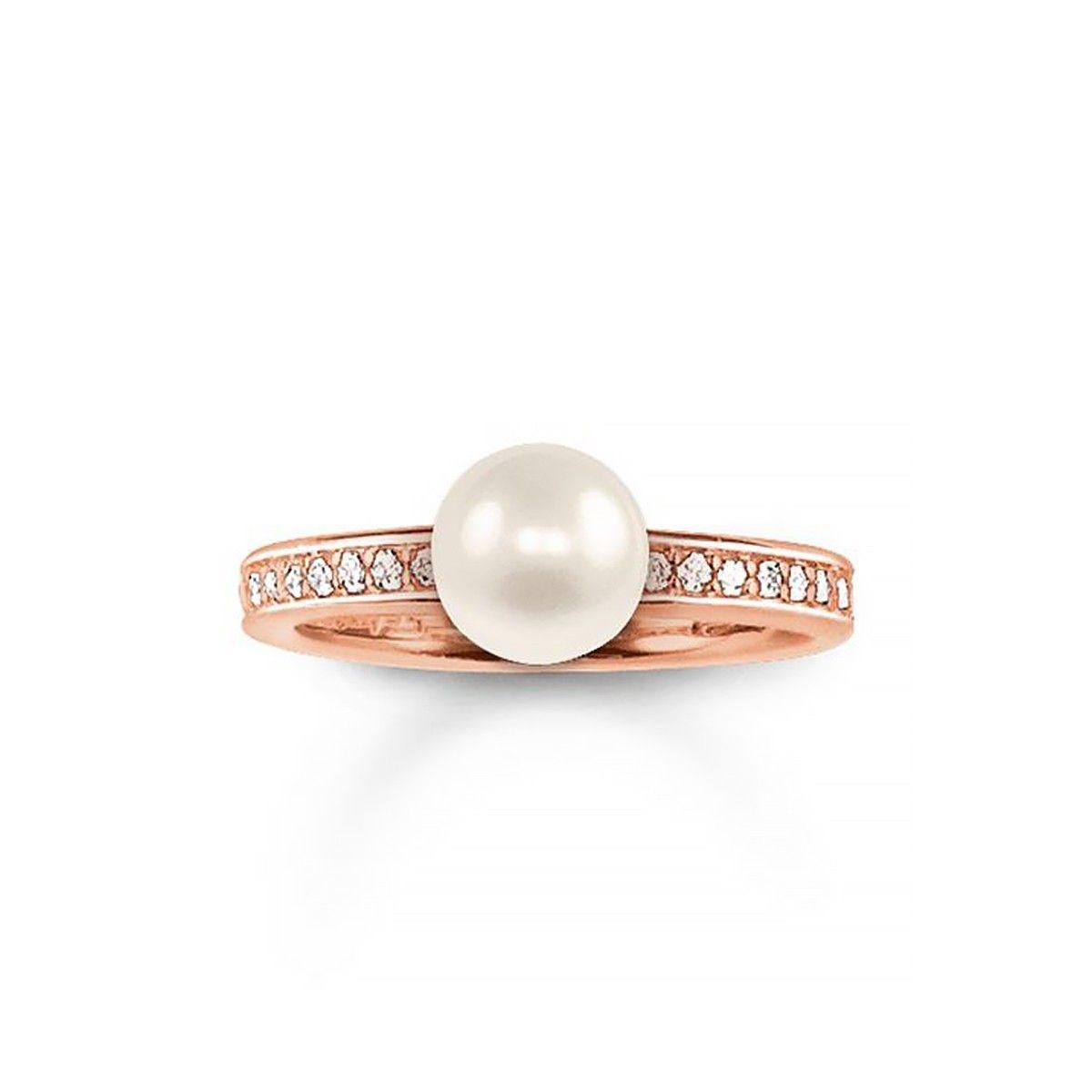Thomas Sabo Thomas Sabo Designers Womens Jewelry Rings Thomas Sabo Rose Gold Plated Ring